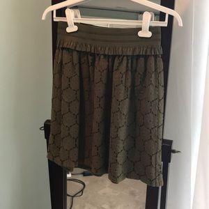 Isaac Mizrahi Olive Green Skirt